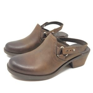 f5841118c31b2c Teva Shoes - Teva Foxy Leather Clog Mules Slip On Slingback